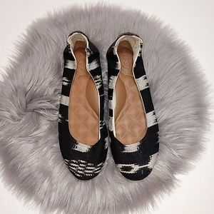 Reef | Black & White Slip On Flats Shoes - 5